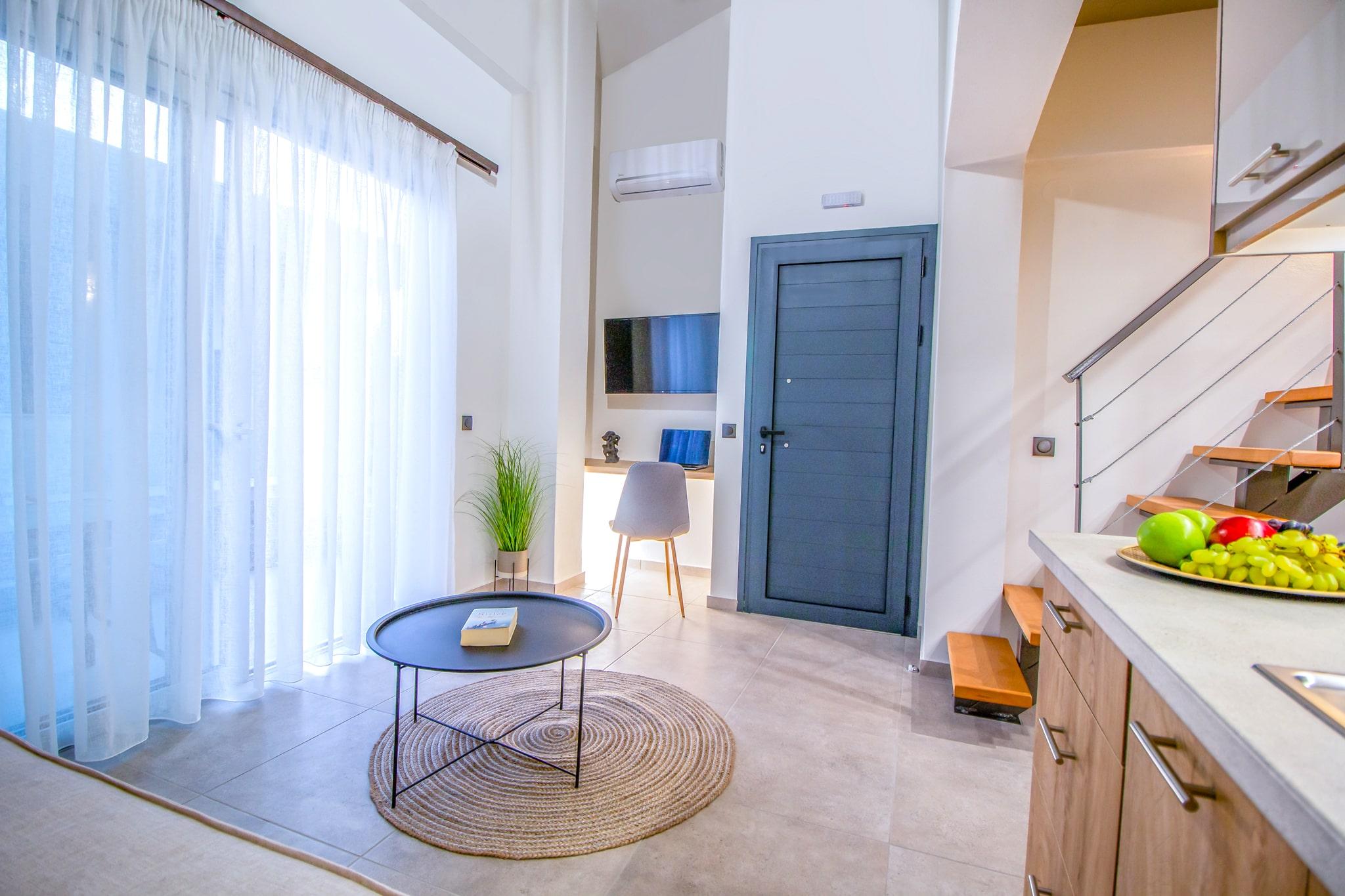 aelia suites living room